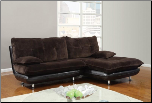 Two Tone Champion Chocolate 2 PC Sectional Sofa Set with Swivel Chair (SKU: GL-U3613-SECTIONAL)
