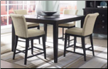 Martini Suite  -  Stylish Contemporary Sleek Solid Wood Counter Height Dining Set