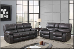 U0040 Reclining Living Room Set in Black Leather Gel (SKU: GL-U0040)