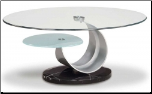 Cocktail Table with Glass Top Set By Global Furniture USA