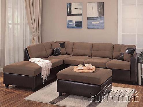 Acme Furniture Saddle Easy Rider And Espresso Bycast PU Sofa 2 Piece 10105  Set