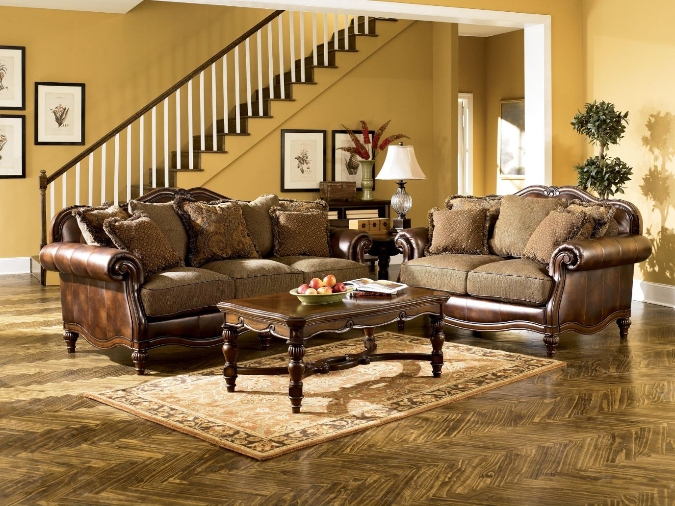 Claremore Antique Living Room Set By Ashley Furniture In Brooklyn At  Gogofurniture Com