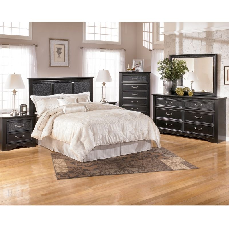 Cavallino Bedroom Set Part - 16: Black Finished Bedroom Set With Mansion Bed, Cavallino Collection Signature  Design By Ashley Furniture