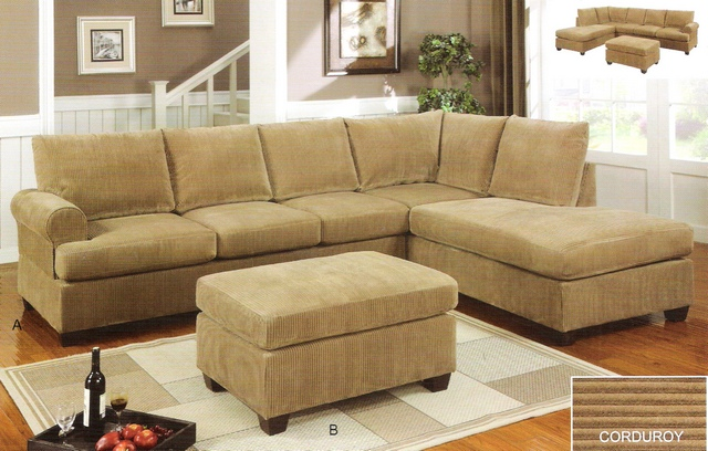 Tan sectional sofa thesofa for Bella chaise dark brown