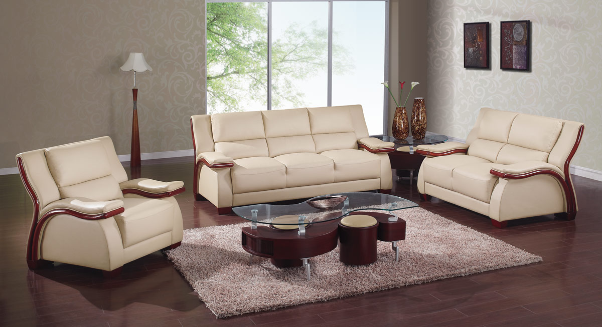 A167 Living Room Set Cappuccino Global Furniture