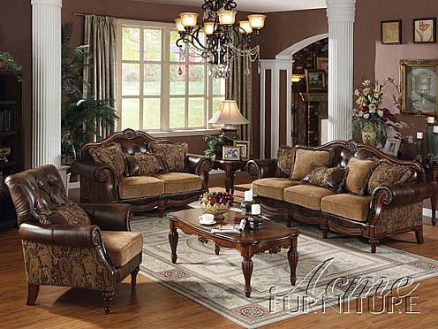 Elegant Acme Furniture Bycast PU Chenille Living Room 05495 Set In Brooklyn At  Gogofurniture Com
