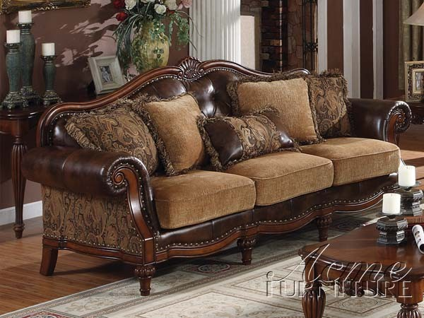 Acme Furniture Bycast PU / Chenille Living Room 05495 Set