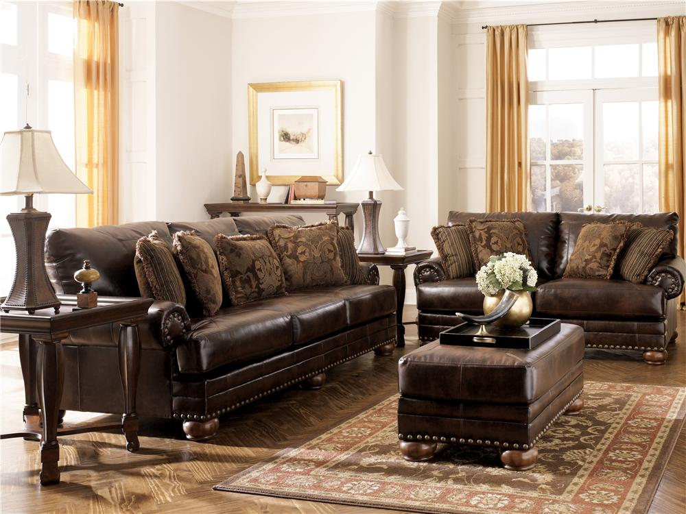 durablend antique living room set signature design by ashley