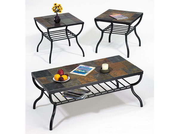 Furniture in brooklyn at Granite top coffee table sets