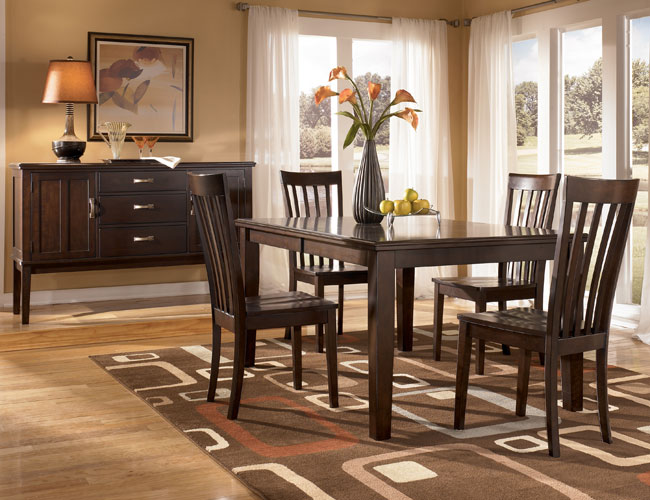 Superb Logan   Dining Room Set With Rectangular Extension Dining Table U0026 4 Side  Chairs Signature Design By Ashley Furniture