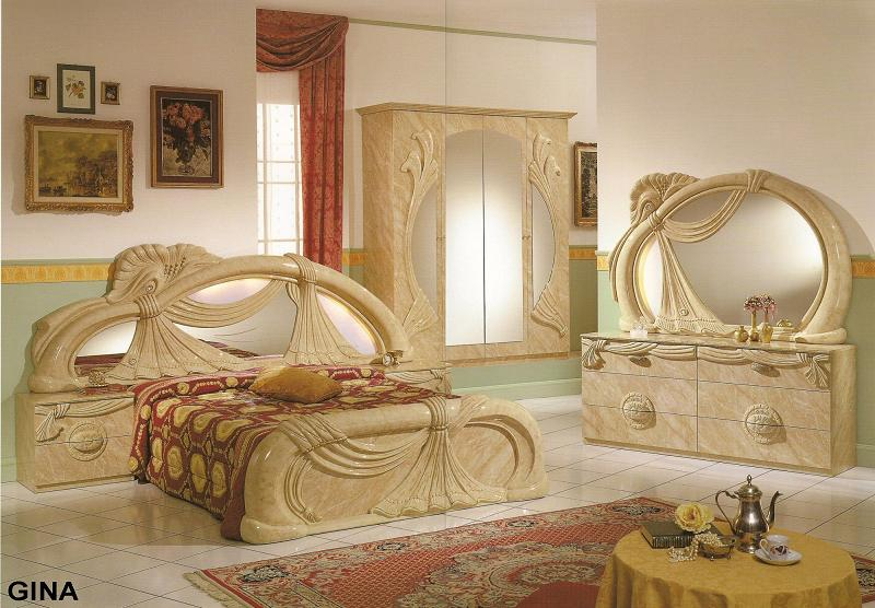 GINA BEDROOM SET BY GLASS FORM COLLECTION. Furniture in brooklyn at gogofurniture com