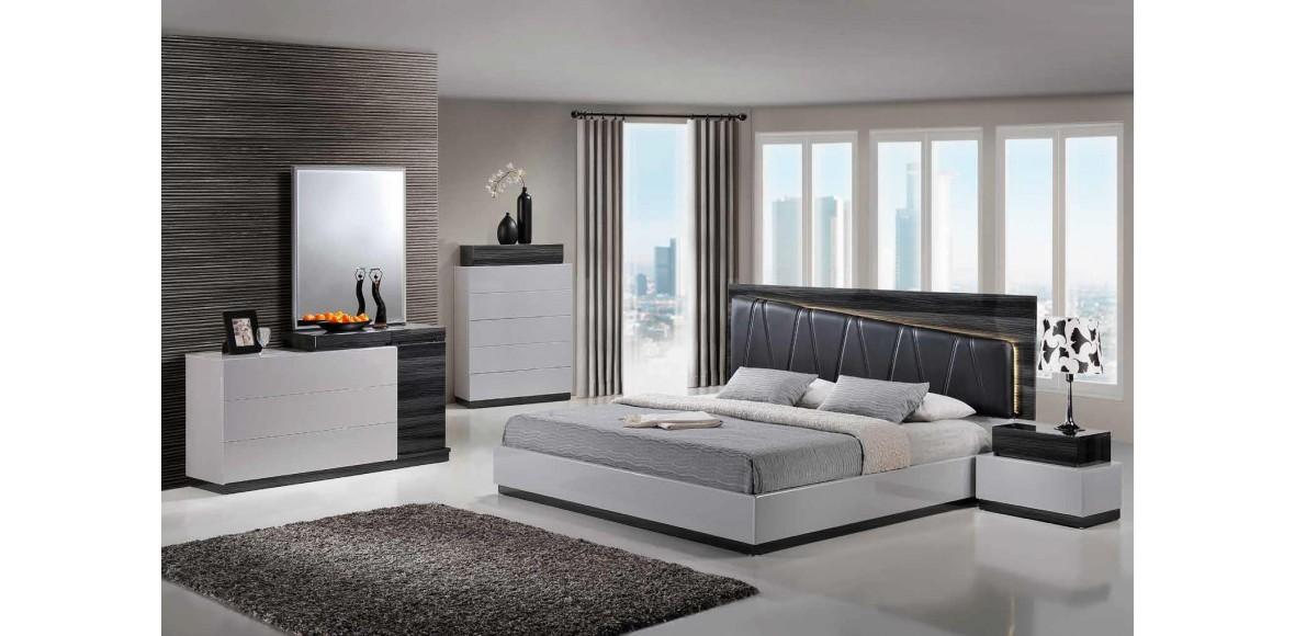 lexi s gr silver gray global furniture usa platform bed bedroom set