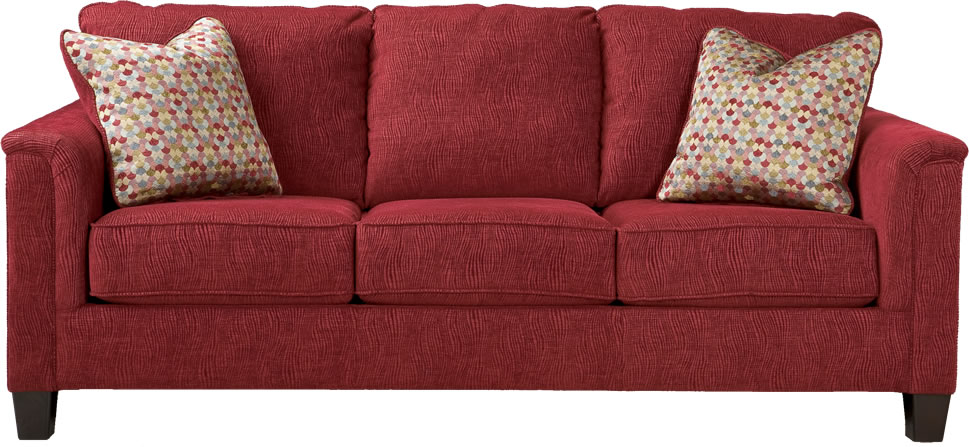 Alfa Img Showing Red Fabric Sofa