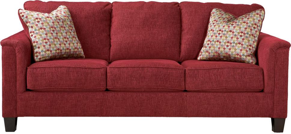 Alfa img - Showing > Red Fabric Sofa