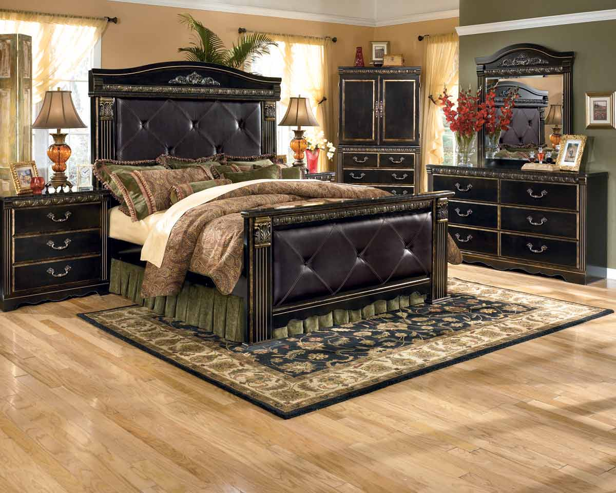 coal creek king mansion bedroom set signature design by ashley furniture