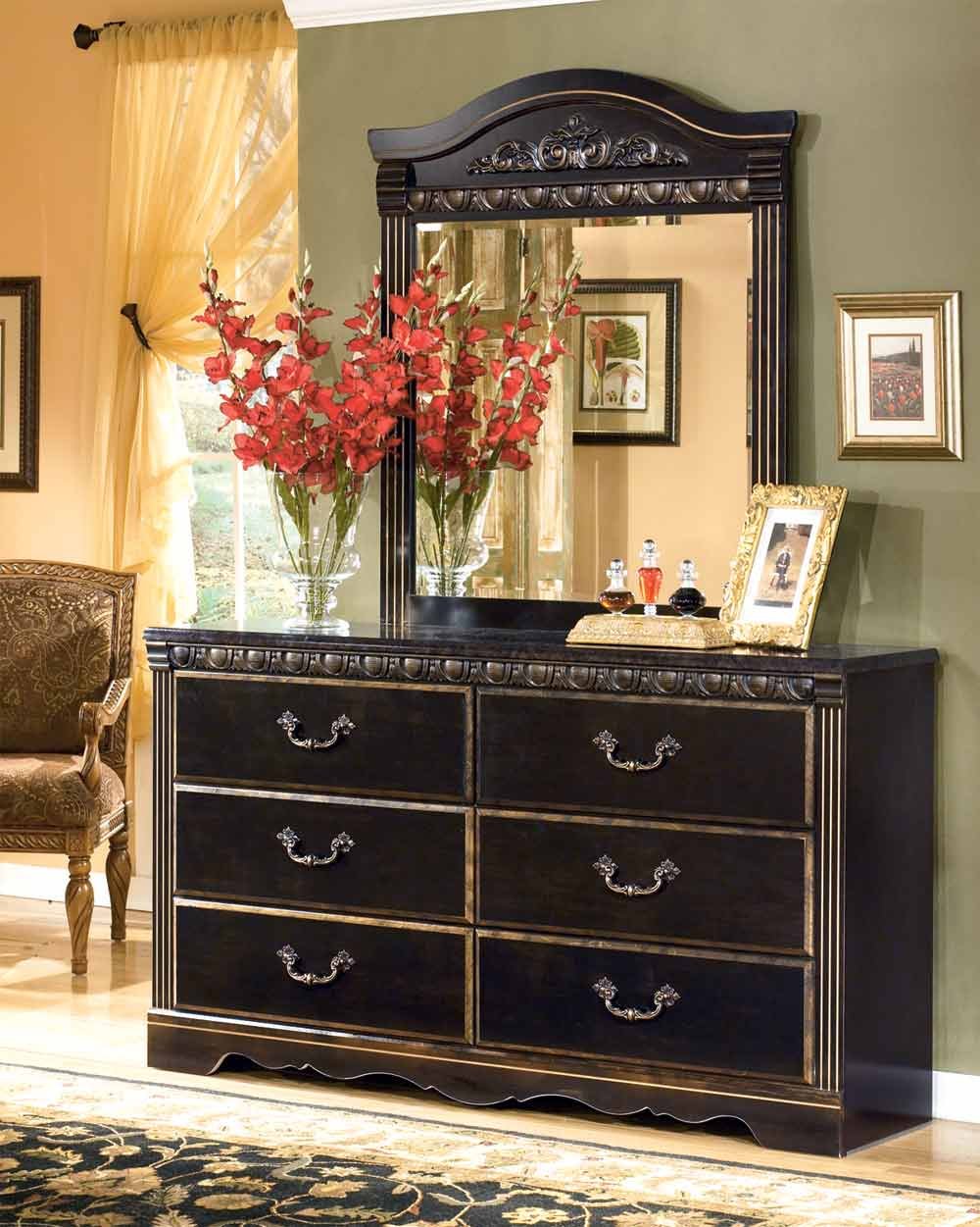 Coal Creek   King Mansion Bedroom Set Signature Design by Ashley Furniture. Furniture in brooklyn at gogofurniture com