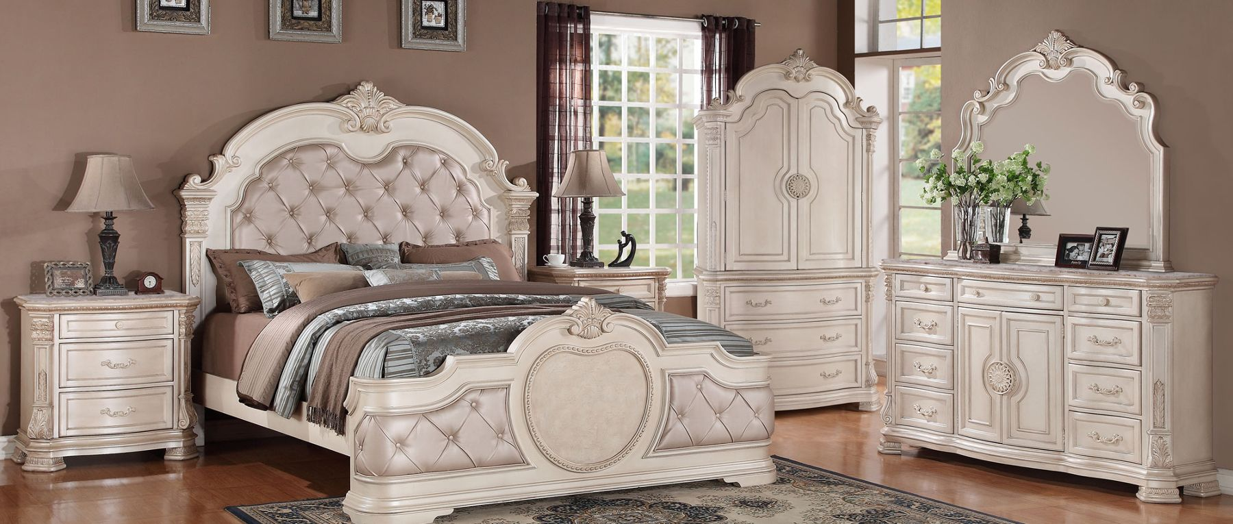 Ordinaire Infinity Bedroom Traditional Set In White