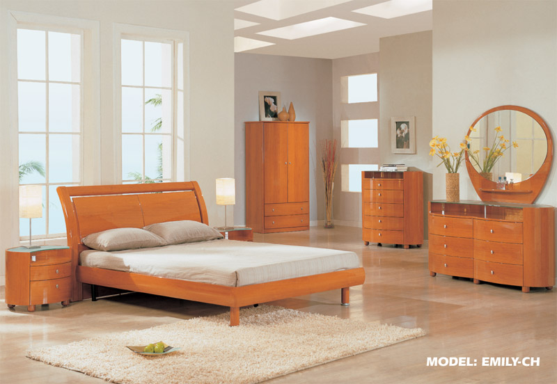 Cherry King Bedroom Set  EMILY By Global Furniture in brooklyn at gogofurniture com