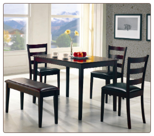 5pc Dining Set in Cappucino Finish - Coaster 150232