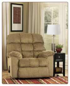 Hustle - Chocolate Contemporary Rocker Recliner by Signature Design by Ashley