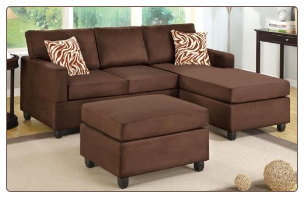 POUNDEX 3 PCS SECTIONAL S7661 CHOCOLATE