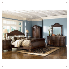 North Shore Sleigh Bedroom Set: Signature Design by Ashley Furniture