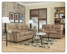 Dominator - Mocha Casual Stationary Living Room Set by Signature Design by Ashley