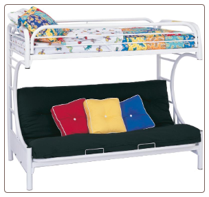Fordham C Style Twin Over Full Futon Bunk Bed by Coaster