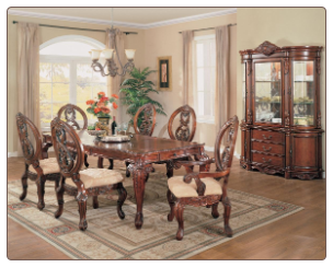 Versailles Dining Rom Set Side W/ Chairs (Set of 2) - Acme Furniture