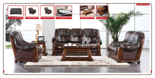 ESF  -Castellon Modern Full Leather Living Room Set