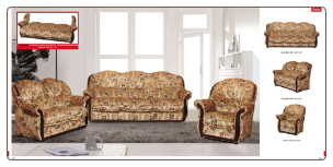 ESF  - Sara Classic 2 Pcs Living Room Set with Wood Trim (Sofa, Loveseat and Chair) - ESF Furniture