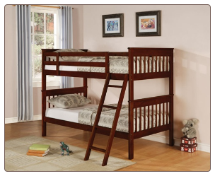 Parker Twin Slat Bunk Bed by Coaster