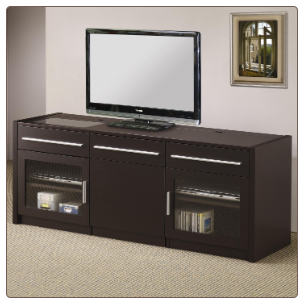 TV Stands Contemporary TV Console with Hidden Mobile Computer Caddy by Coaster