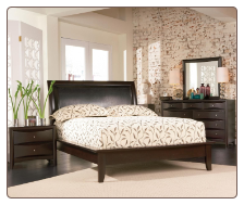 Phoenix Dark Cappuccino Platform Bed Set - Coaster