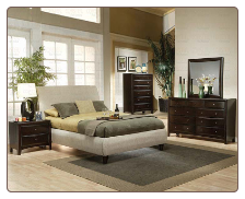 Phoenix Fabric Platform Bed - 300369 - Coaster Furniture