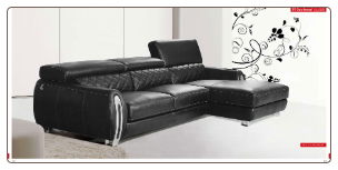 ESF - Modern 19 Sectional in Full Leather by European Style Furniture