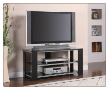 SILVER TV STAND 700665 by Coaster