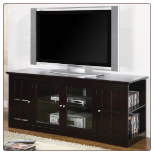 Fullerton Transitional Media Console with Glass Doors by Coaster