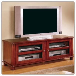 TV Stands Transitional Media Console with Doors and Shelves by Coaster