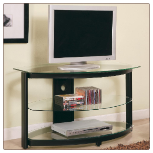 TV Stands Contemporary Metal and Glass Media Console by Coaster