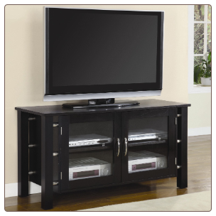 TV Stands Contemporary Media Console with Doors by Coaster
