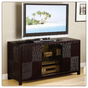 TV Stands Contemporary Television Console with Doors by Coaster