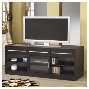 TV Stands Contemporary TV Console with CONNECT-IT Power Drawer by Coaster
