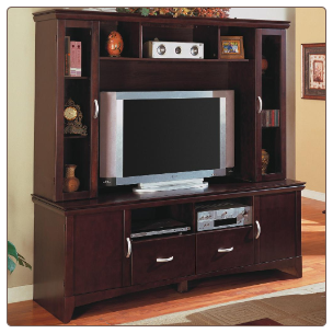 Wall Units Contemporary Entertainment Wall Unit by Coaster