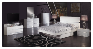 Aurora Platform Bedroom Set - White - Global Furniture