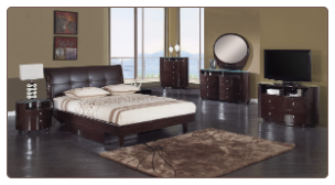 Evelyn Platform Bedroom Set - Wenge - Global Furniture