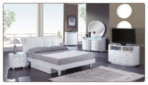 Evelyn Platform Bedroom Set - White - Global Furniture
