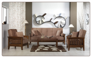 Vera 3 Pcs Living Room Set in Obsession Truffle (Sofa and 2 Chairs) - Sunset Furniture-Istikbal