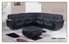 4 PCS 3618 Sectional Sofa - Black - Global Furniture