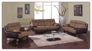 A159 Living Room Set - Tan/Brown - Global Furniture